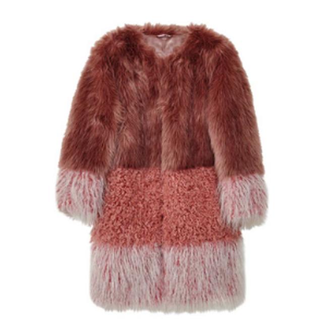 Christopher kane blonde fox fur coat in natural lyst