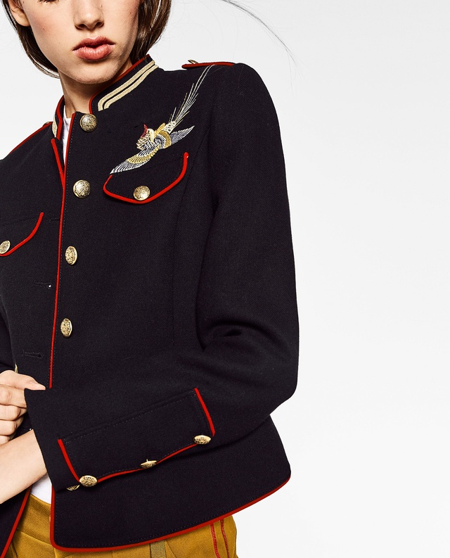 Zara is Tackling the Military Look This Month